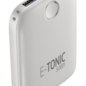 E-Tonic USB-C Power Bank 5.000mAh Hvid